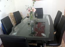 High quality glass  dining table 6 seater