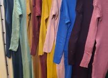 فستان صوف طويل