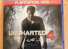 لعبة سوني 4 - ان شارتد 4 -Uncharted المشهورة