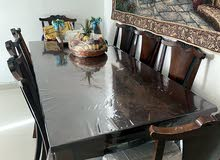 Dining Table Including 8 Chairs