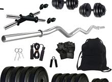 20kg +zigzagbar +2 dumbbell handle +gym equipment