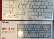 وايرليس كيبورد -اصغر حجم(للموبايل واللابتوب والكمبيوتر)