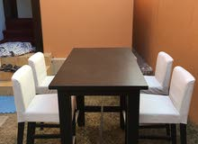 Available for sale table and quarter chairs