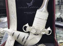 خنجر عماني صياغة ثقيلة زراف هندي و صندل اصلي