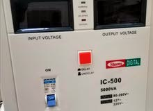محول ومنظم كهرباء ياباني شغل 110 و220 مقاسات كبيرة