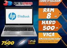 laptop hp core i7 ram 8 hdd 500 viga amd لالعاب 2018 وبرامج الجرافيك