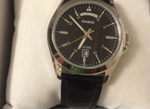 Casio Black Leather Watch