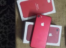 ايفون 7 لون احمر  ذاكرة  256 G ولا شخطه بحاال الوكالة