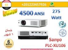 أقوي بروجكتور سانيو PLC XU106 استعمال للبيع بالضمان في مصر 4500 أنسي