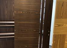 ابواب تركية جاهزة داخلية خشب طبيعي شاملة الاكسسوارات