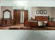 غرفة نوم ملكية جديدة وراقية خشب طبيعي