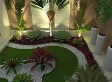 تنسيق حدائق وتوريدنباتات زينه