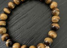 tiger's eye precious stone bracelet