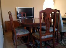 salle à manger complet قاعة اكل خشب رفيع مستوردة من اسبانيا