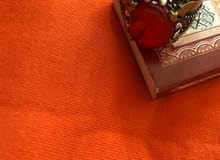 خاتم عقيق يمني احمر