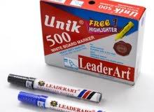 أقلام سبورة ماركر مدور (Unik 500 LeaderArt)