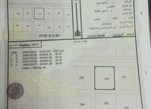 أرض سكنيه ولاية عبري مخطط شلاشل بمساحة 780متر مربع