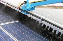 تنظيف محطات الطاقة الشمسية المتجددة بأحدث الاليات