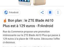 هاتف zte blade a610 plus