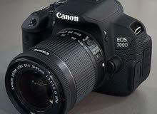 كاميرا كانون 700D نظيفه جدا للبيع