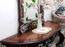 Table with a mirror Egyptian wood furniture