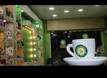 مشروع ناجح جدا محل قهوه للبيع المفرق شارع الجامعه  مقابل المجمع الجديدديكور مميز