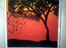 لوحة اكريليك لمنظر طبيعي