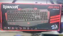 كيبورد ReDragon Gaming Asura مخصص للالعاب 7 الوان وانت تتحكم بيهن