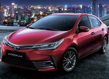 For a Month rental period, reserve a Toyota Corolla 2018