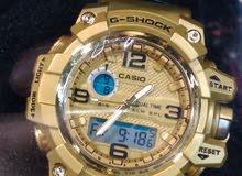 ساعة G-SHOCK استيك معدن ذهبى