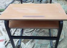 مقاعد مدرسية فردية وزوجية جديدة ويوجد مقاعد لأطفال الروضة زوجية  للبيع