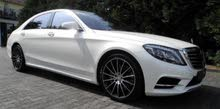 White Mercedes Benz S 320 2016 for rent