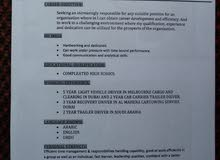 searching for a driver job