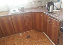 مطبخ المنيوم  2×4 مع  زاويه المنيوم