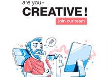 نبحث عن مصمم جرافيك graphic designer