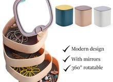 jewellery rotatable organiser منظم قابل للدوران للمجوهرات