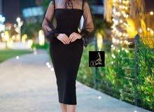 فستان انيق ماركة درجة اولى صناعة تركية