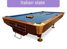 Pool Tables American solid wood Italian Slate