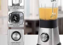 خلاط كهربائي متعدد السرعات من الإينوكس بكأس زجاجي 1.5 لتر لتجهيز الحساء والمشروب