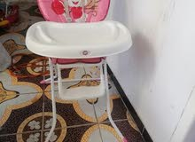 كرسي اطفال لون وردي