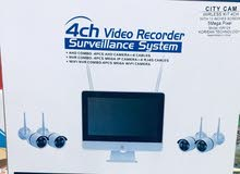 4 CH Video Recorder City Cam, With 1 HDD - 1 TB