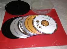 عدد9 اسطوانة DVD+ عدد 3 اسطوانة CD+عدد 19 مظروف +علبة الاسطوانات