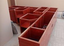 خزانات مطابخ للبيع بدون الرخام