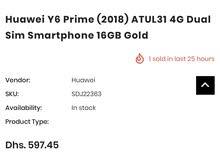 huawei y6 prime 2018 great condition