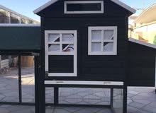 بيت خشبي للارانب و الدجاج
