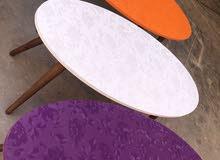 تشكيلة واسعة من طاولات pvc + لوحات 3d+ ساعات اكريليك ورفوف