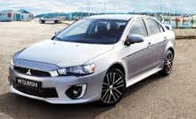 White Mitsubishi Lancer 2016 for rent