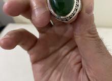 خاتم عقيق اخضر