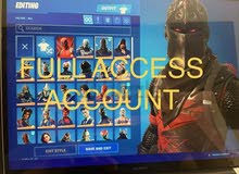 Full access fortnite account with black knight