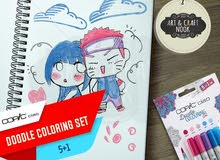 Doodle your creative stories with Copic Ciao's 5+1 - Doodle Set